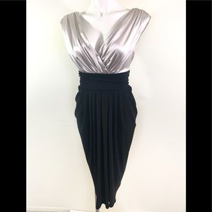 Formal silver and black dress
